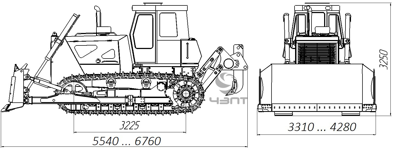 Общий вид трактора